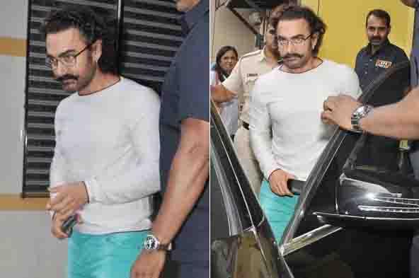 स्वाइन फ्लू से ठीक होने के बाद वर्क मोड में लौटे आमिर खान!