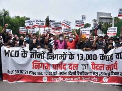 निगमों का बकाया फंड जारी होने तक आंदोलन जारी रहेगा- आदेश गुप्ता