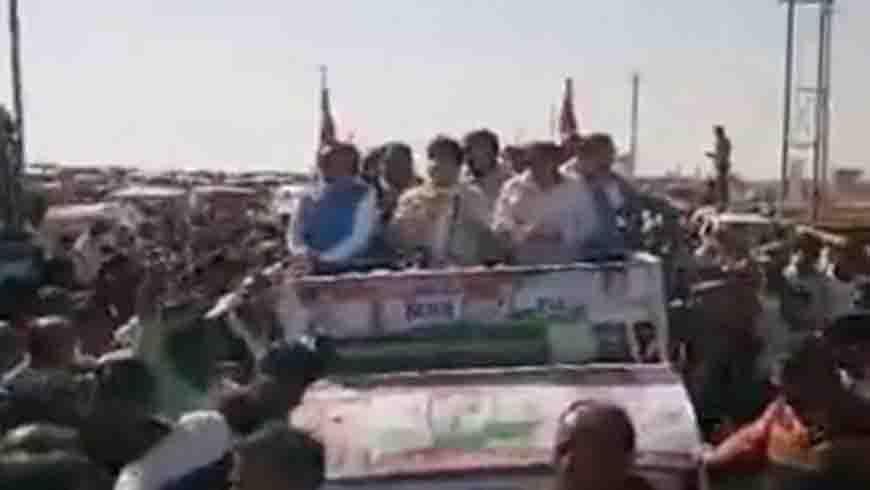 रोड शो के साथ कांग्रेस का शक्ति प्रदर्शन, कोलारस में भरा नामांकन