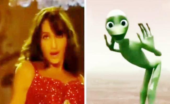 'बाहुबली' की एक्ट्रेस को कॉपी कर रहा है ये एलियन, दोनों का डांस देखकर लोगों ने मारी सिटी