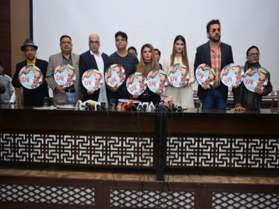 राखी सावंत और फिल्म 'मुद्दा 370 जेएंडके' के स्टारकास्ट ने दिल्ली किया प्रमोशन