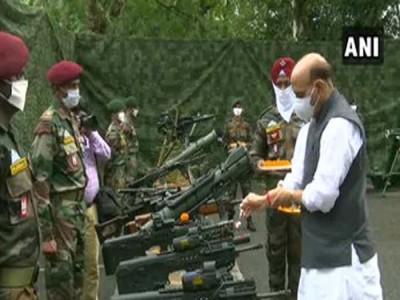 दशहरा पर शस्त्र पूजन के साथ राजनाथ ने दी चीन को कड़ी चेतावनी कहा, कोई नहीं ले पाएगा भारत की एक इंच भी जमीन