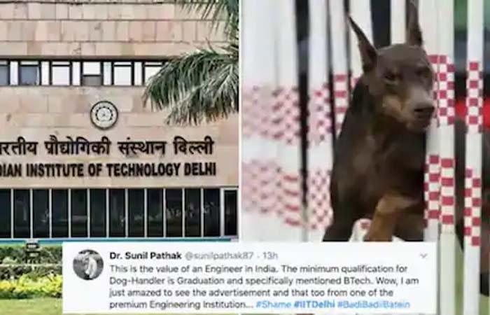 IIT दिल्ली को चाहिए डॉग हैंडलर, बीटेक और होना अनिवार्य, मिलेगा 45 हजार का वेतन