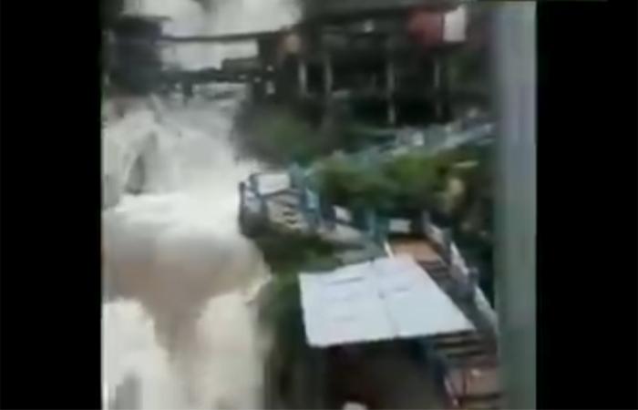 उत्तराखंड जानें वाले सावधान! केम्प्टी फॉल में खतरनाक हुआ जलस्तर ; देखें वीडियो