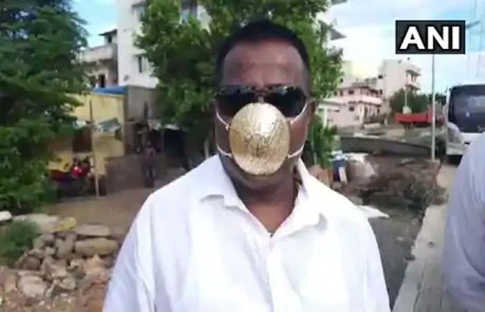 क्या कोरोना से बचा सकता है Gold? शख्स ने बनवाया करीब तीन लाख रुपये का सोने का मास्क