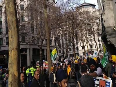 लंदन में खालिस्तान समर्थकों ने किया भारतीयों पर हमला