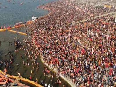 कुंभ में भीड़ के आंकड़ों पर बवाल, मकर संक्रांति पर 2 करोड़ लोगों के स्नाैन करने पर उठे सवाल