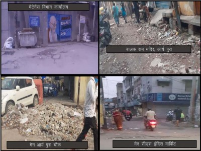 उत्तरी दिल्ली नगर निगम सिविल लाइन क्षेत्र के मल्का गंज वार्ड नंबर 13 की जनता हुई टूटी सड़कों और गलियों से परेशान
