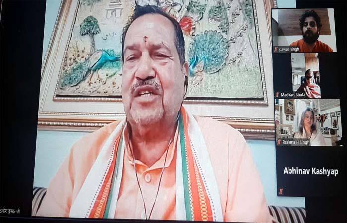 """""""भारत युद्ध नही चाहता लेकिन जरूरी होने पर मुहतोड़ जवाब देंगे"""": इंद्रेश कुमार"""