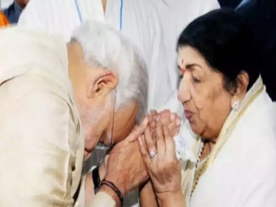 PM मोदी की कही कविता को लता मंगेशकर ने अपनी आवाज से सवारा