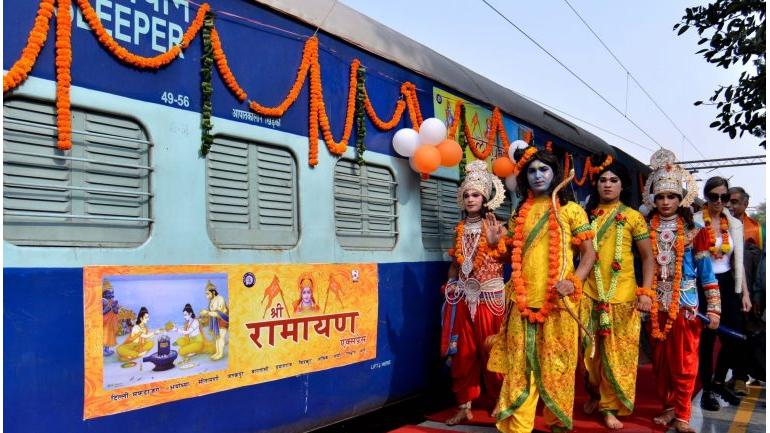 राम भक्तों को तोहफा- रवाना हुई अयोध्या-रामेश्वरम की तीर्थयात्रा के लिए रामायण एक्सप्रेस