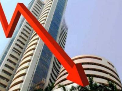 शेयर बाजार में भारी गिरावट, सेंसेक्स 600 अंक नीचे लुड़का