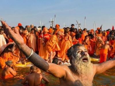 महाशिवरात्रि पर हरिद्वार महाकुंभ का पहला शाही स्नान