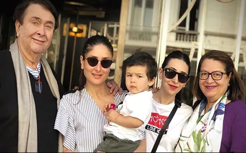 वायरल हुई तैमूर अली खान की करीना कपूर और करिश्मा कपूर के साथ Photo