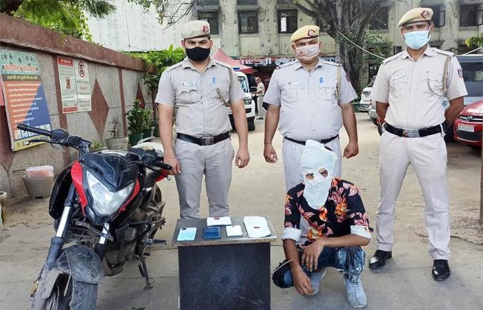 थाना सब्जी मंडी पुलिस ने छीना झपटी करने वाले को किया गिरफ्तार